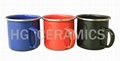 Colorful enamel mug