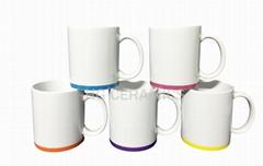 11oz Mug with color band