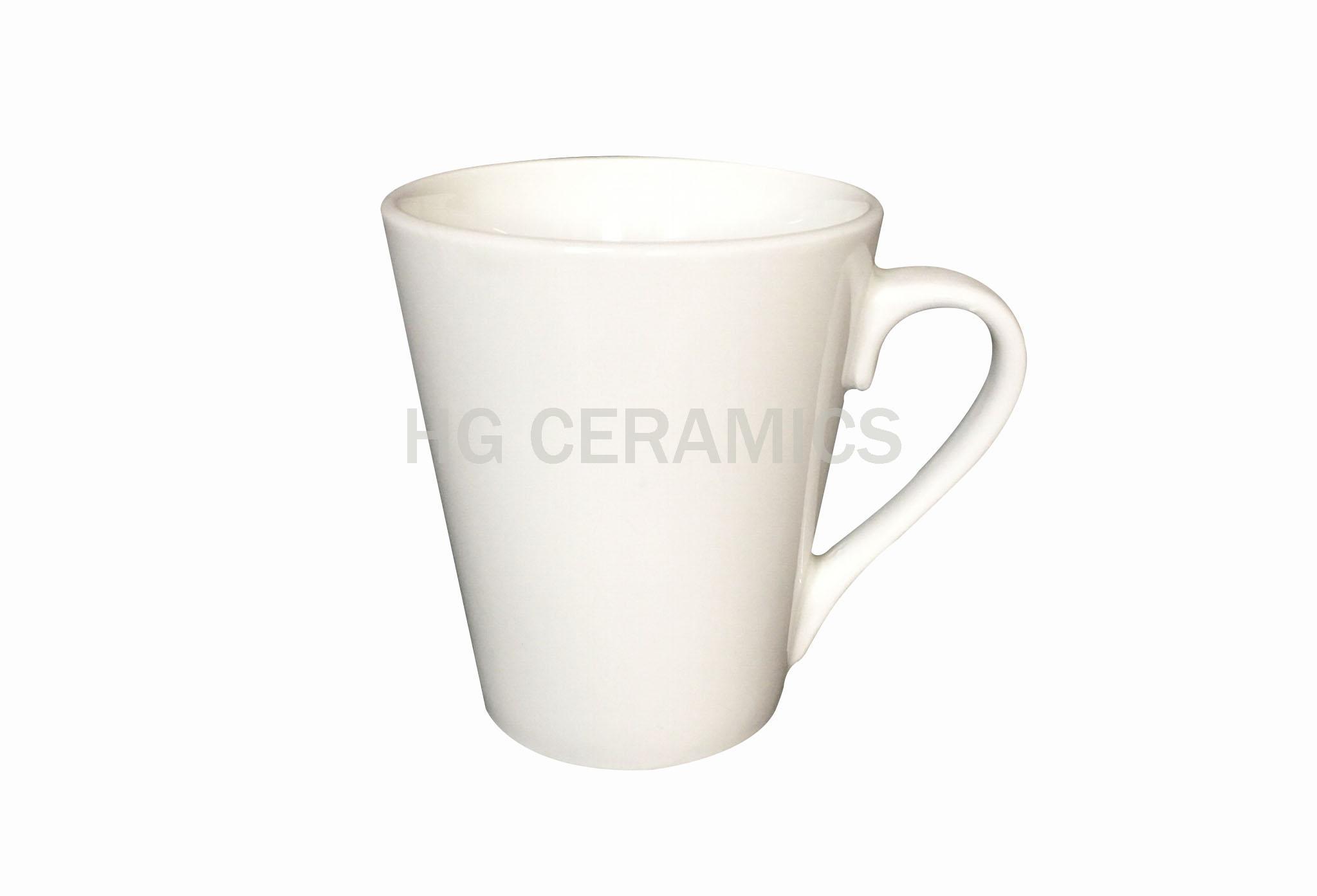porcelain latte mug, 12oz 1