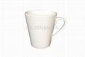 porcelain latte mug, 12oz