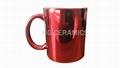 Metallic Red Color Mugs