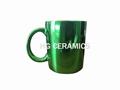 Metallic Green Color Mugs