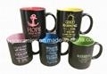Spray Color Mug. Ceramic Mug with Paint