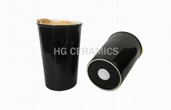 Black Doublewall takeaway cup