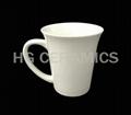 Flared ceramic mug