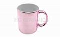Metallic Pink Color Mugs