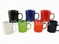13oz latte mug , color mug , glazed