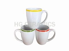 Mug with color band