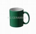 Green color coated mug