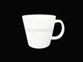 Matte finish white mug