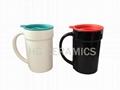 PP lid ceramic mug