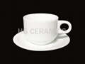 100ml  Ceramic cup & saucer