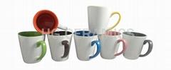12oz latte mug, inside and handle color