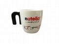 N handle mug ,ceramic mug  with N shape