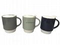 12oz ceramic mug with PP Lid
