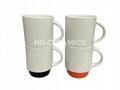 Stackable mug with color bottom