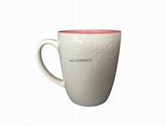 Embossed mug 14oz
