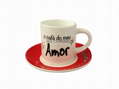 Espresso cup and saucer, 3.5oz