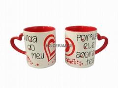 Valentine's day  Mug , Heart handle mug