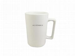 12oz white matte color mug