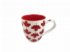 Glitter decal mug