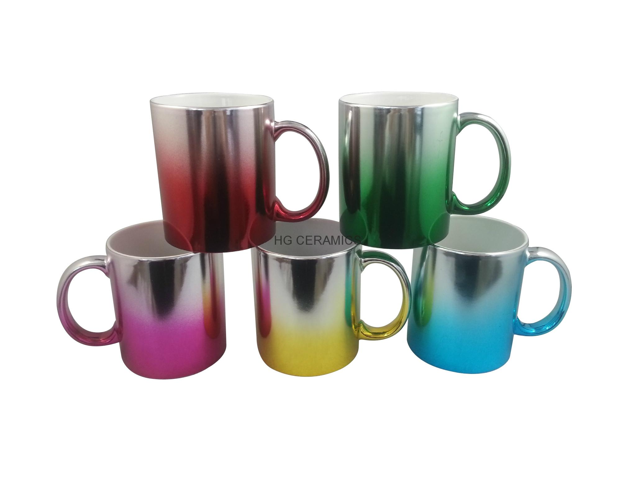 Metallic mug,multi color  11oz 1