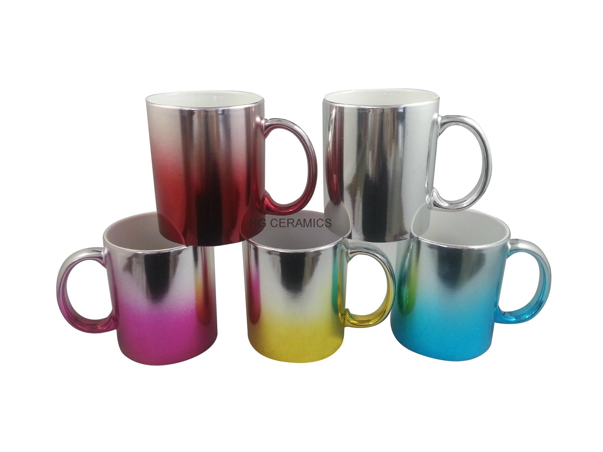 Metallic mug,multi color  11oz 2