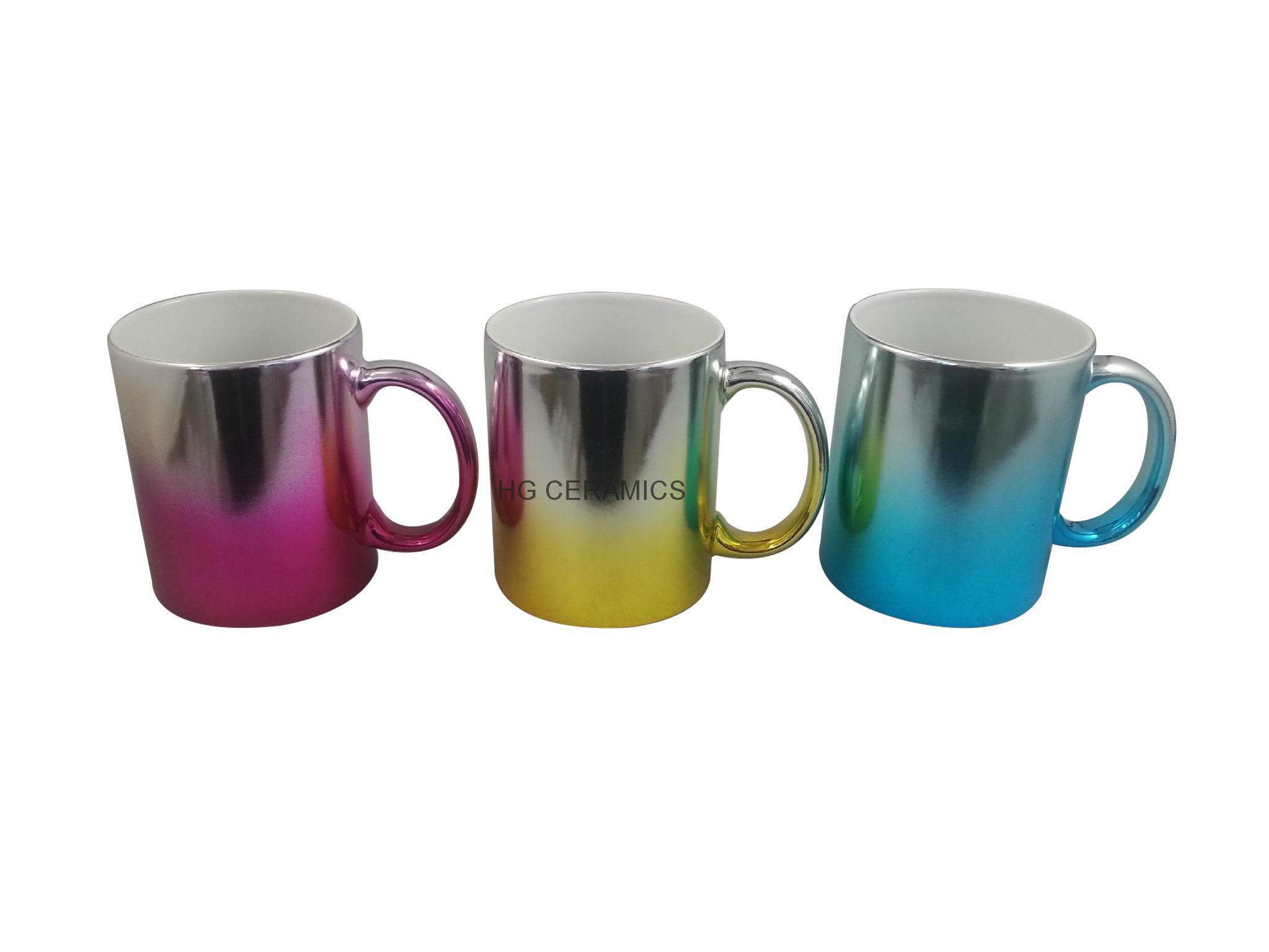 Metallic mug,multi color  11oz 3