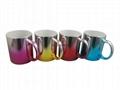 Metallic mug,multi color  11oz