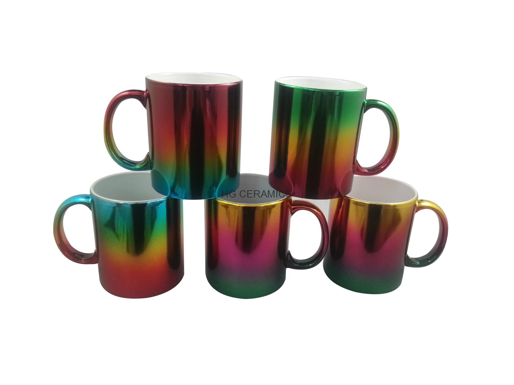 Metallic mug,multi color  11oz 5