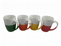 Half color glaze mug  12oz