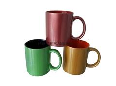Pearl finish mug