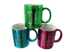 11oz  metalic color mug with logo printing