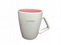 Triangle handle mug