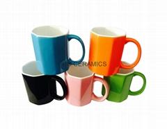 Octagon shape mug