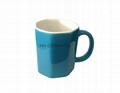 Octagon shape mug  2