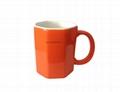 Octagon shape mug  3