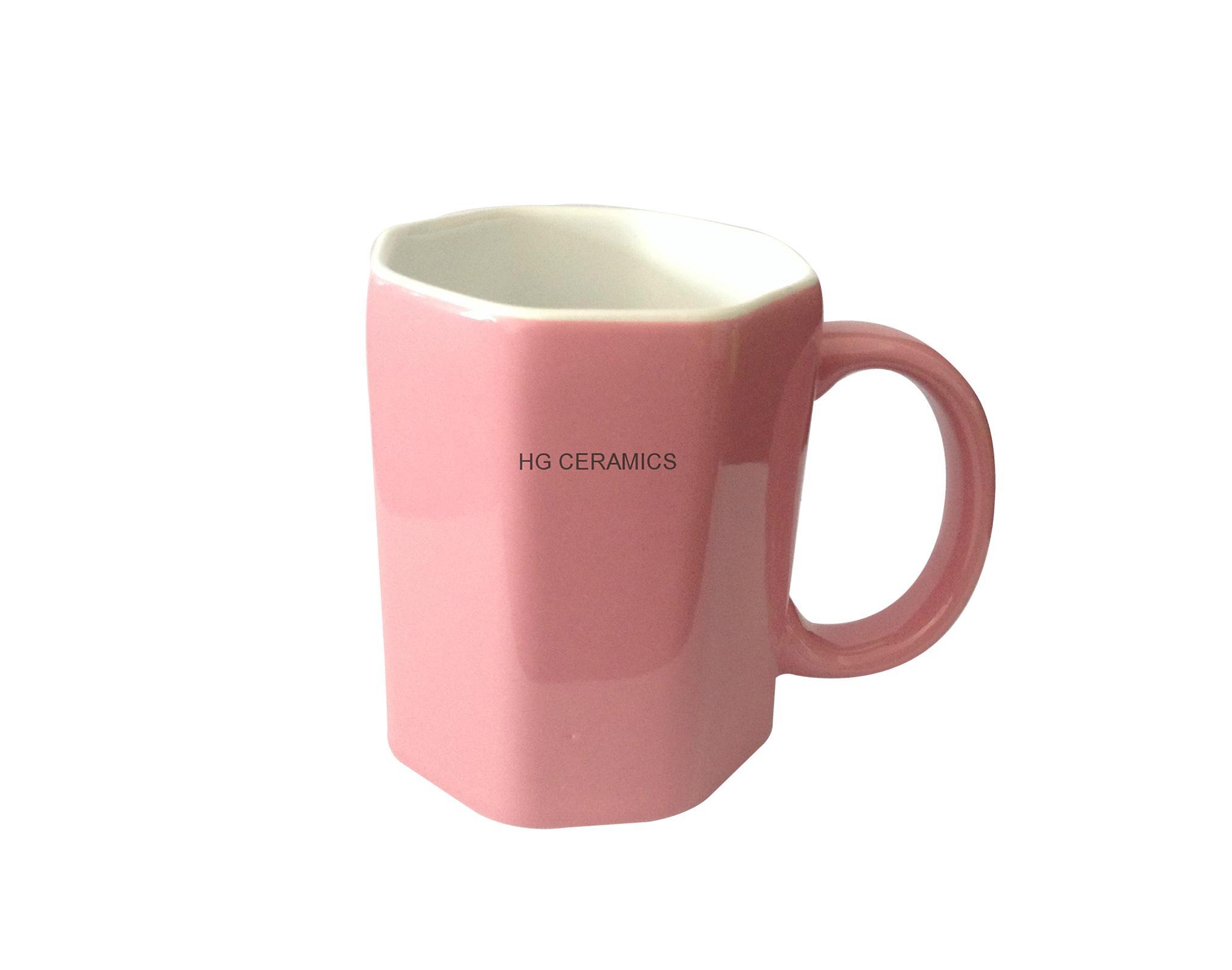 Octagon shape mug  4