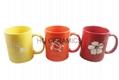 Etched solid color mug 11oz