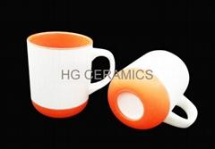 16oz mug with silicone bottom