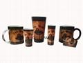 Wood board design mug