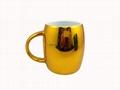 metallic barrel mug