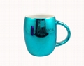 16oz  metallic color mugs,  blue