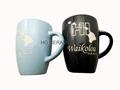 14oz Speckled glaze mug with laser logo
