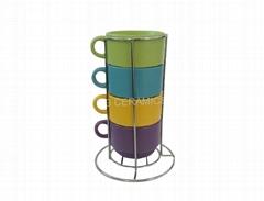 stackable mug set