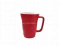 Bamboo joint ceramic mug