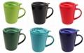ceramic mug with Plastic lid