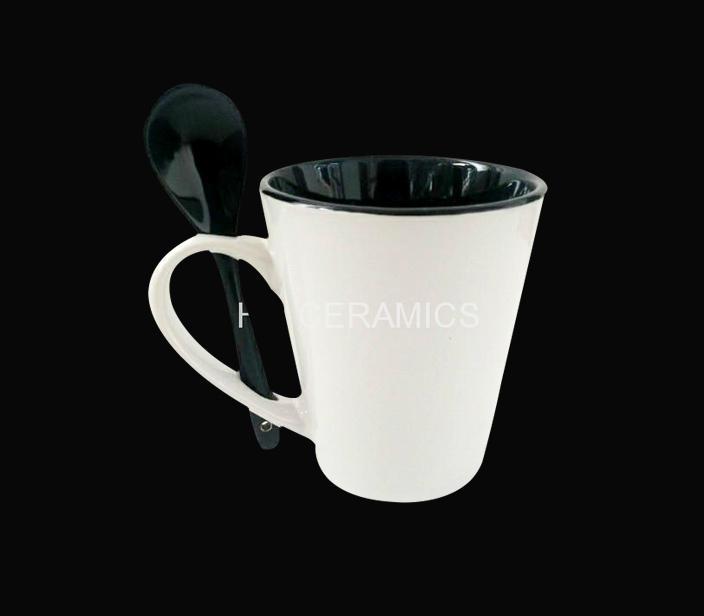12oz latte mug with spoon  1