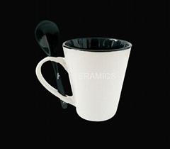 12oz latte mug with spoon