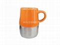 Ceramic mug with stainless steel bottom